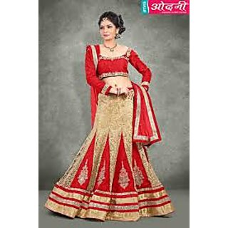 Gorgeous Designer Wedding Lehenga In Red And Dull