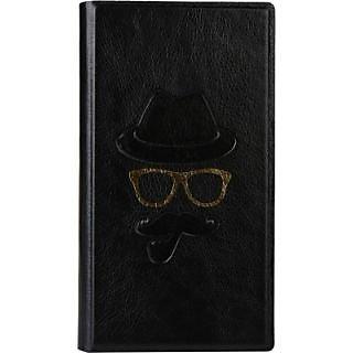 Jojo Wallet Case Cover for Karbonn A12 (Black)