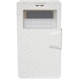 Jojo Flip Cover for Lava Iris N400 (White)