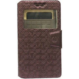 Jojo Flip Cover for Samsung Galaxy Core Plus G3500 (Coffee)