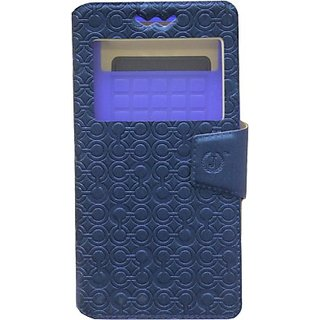 Jojo Flip Cover for Alcatel Idol 2 Mini (Dark Blue)