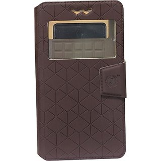 Jojo Flip Cover for Videocon Infinium Graphite (Coffee)