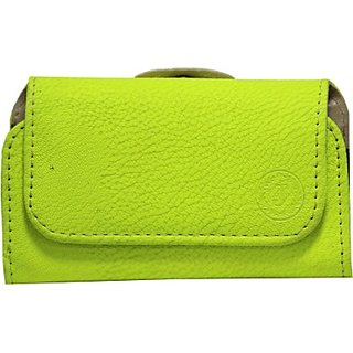 Jojo Pouch for Micromax Bolt A069 (Parrot Green)