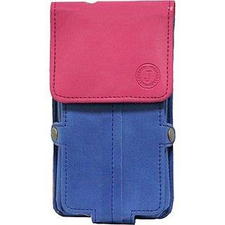 Jo Jo Pouch for T SERIES SS909 (Dark Blue, Pink)