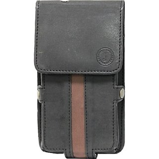 Jojo Holster for Huawei Ascend W2 (Black, Brown)