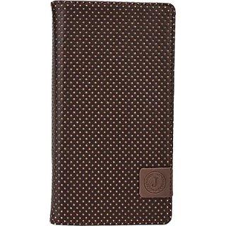 Jojo Flip Cover for HTC Evo 4G LTE (Dark Brown, Orange)