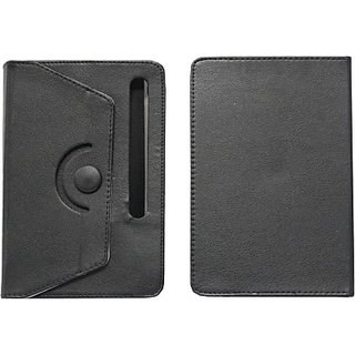 Jojo Flip Cover for Lava E-Tab Z7C+ (Black)