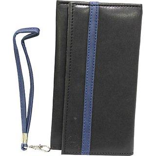 Jojo Flip Cover for Samsung Primo Duos (Black, Dark Blue)