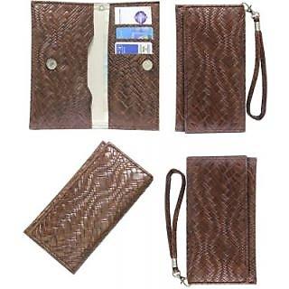 Jojo Flip Cover for Karbonn K600 (Dark Brown)