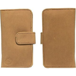 Jojo Flip Cover for Lava Iris N320 (Tan)