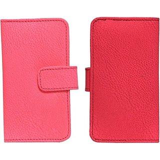 Jojo Flip Cover for iBall Andi 3.5F Grabit (Bright Pink)