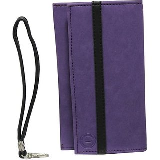 Jojo Pouch for Samsung Wave 3 S8600 (Purple, Black)