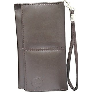 Jojo Pouch for Micromax X261 (Brown)