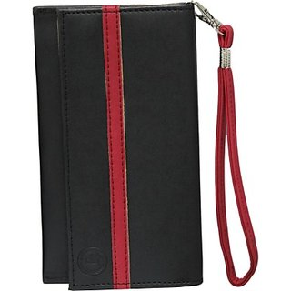Jojo Pouch for Nokia C5 06 (Black, Red)