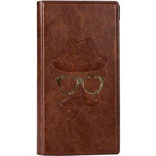 Jojo Wallet Case Cover for Karbonn Smart A12 Star (Brown)