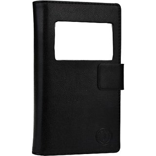 Jojo Flip Cover for Celkon Campus Whizz Q42 (Black)