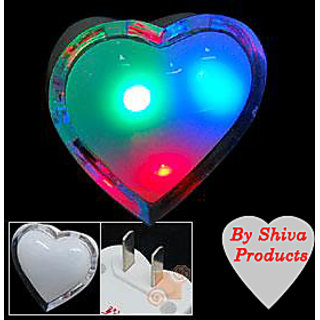 Valentines Heart Shape 3 Color LED Night Light