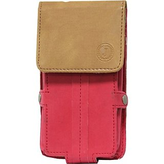 Jojo Holster for Samsung S3850 Corby II (Red, Tan)
