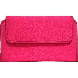 Jojo Pouch for Micromax Q1 (Exotic pink)