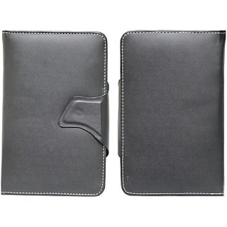 Jojo Flip Cover for Intex I-Buddy 7.2 (Black)