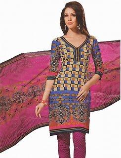 Minda Pure Cotton Salvar Suit  Kundan