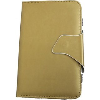 Jojo Flip Cover for SamsungGalaxy Tab 3 211 T2110 (Golden)