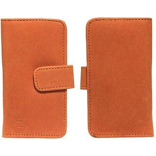 Jojo Flip Cover for Lava Iris 300 Style (Orange)