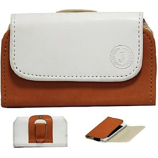 Jojo Holster for LG Optimus F3 (White, Orange)