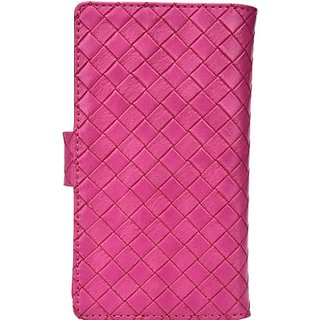 Jojo Flip Cover for Spice Stellar Mettle Icon (Hot Pink)