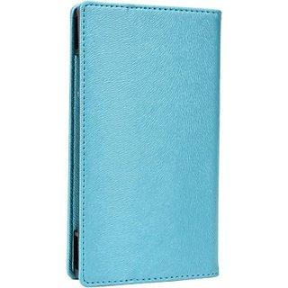 Jojo Wallet Case Cover for iBall Andi 3.5 KKe Genius (Light Blue)