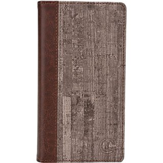 Jojo Wallet Case Cover for Maxx Mobile AX9z (Brown)
