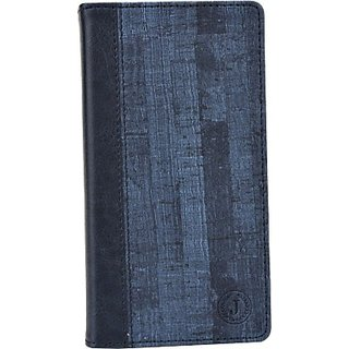 Jojo Wallet Case Cover for Swipe Konnect 5.0 (Dark Blue)