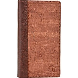 Jojo Wallet Case Cover for Philips W8355 (Light Brown)
