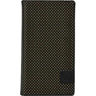 Jojo Wallet Case Cover for Lenovo K3 Note (Black, Yellow)
