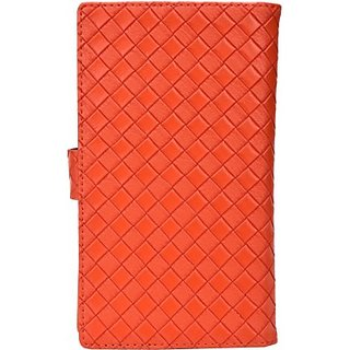 Jojo Flip Cover for Micromax Bolt A148 (Orange)