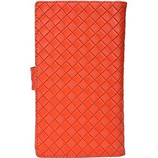 Jojo Flip Cover for Micromax A113 (Orange)