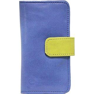 Jojo Flip Cover for Karbonn K65 Buzz (Dark Blue, Parrot Grren)