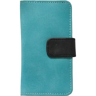 Jojo Flip Cover for LG Optimus S (Light Blue, Black)