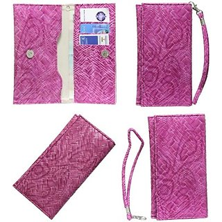 Jojo Flip Cover for Spice M-5399 (Exotic Pink)