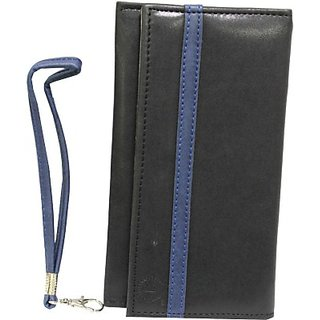 Jojo Pouch for Panasonic Eluga S (Black, Dark Blue)