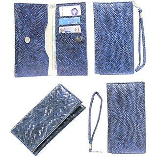 Jojo Flip Cover for Alcatel Pixi 3 (3.5) Firefox (Dark Blue)