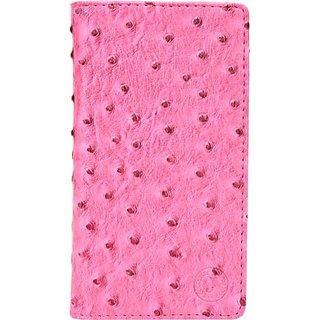 Jojo Flip Cover for Intex Aqua i6 (Pink)