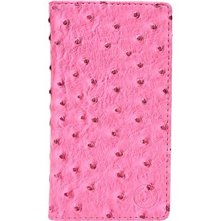 Jojo Flip Cover for Lava Iris 503e (Pink)