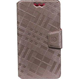 Jojo Flip Cover for Celkon S1 (Light Pink)
