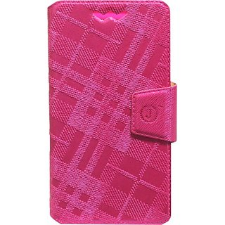 Jojo Flip Cover for XOLO Q1020 (Dark Pink)