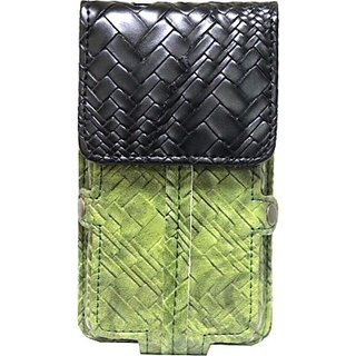 Jojo Holster for Samsung Galaxy J1 (Green, Black)