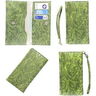 Jojo Flip Cover for Spice M-5056 (Green)