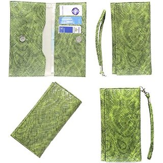 Jojo Flip Cover for Micromax X103 (Green)