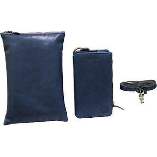 Jojo Pouch for LG Lucid 3 VS876 (Dark Blue)
