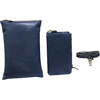Jojo Pouch for Micromax Bolt S300 (Dark Blue)